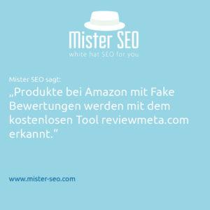 Mister SEO sagt Fake Bewertungen Amazon