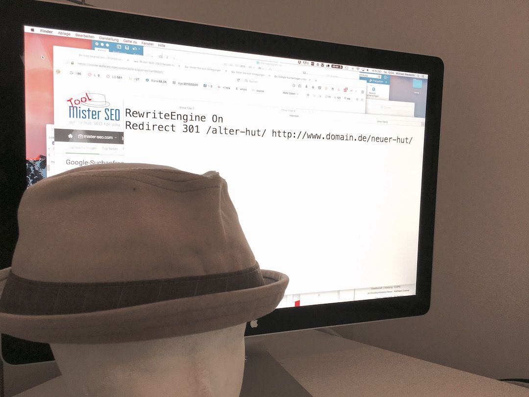 Weg mit den alten Hüten..301 Weiterleitung sei Dank