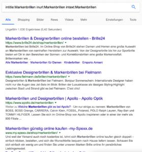 Google Suche intitle Inurl intext