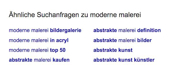 Ähnliche Suchanfragen Google