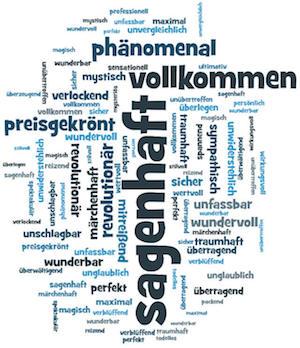 Starke Adjektive für Überschriften