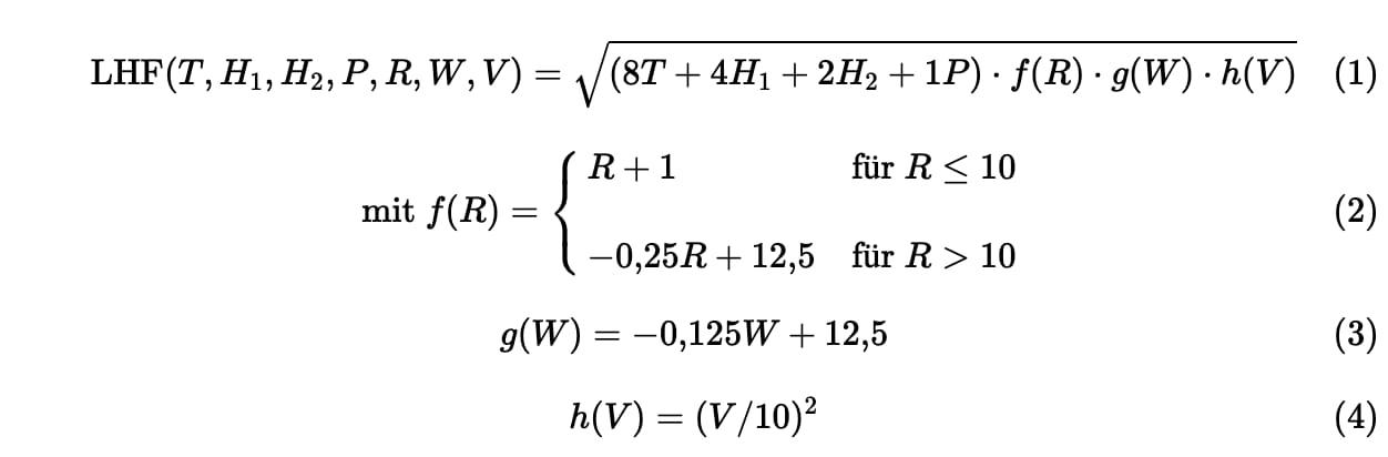 Die Formel des LHF-Index