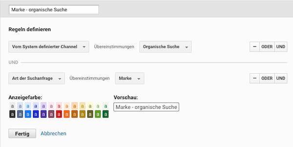 Marken Channel organische Suche