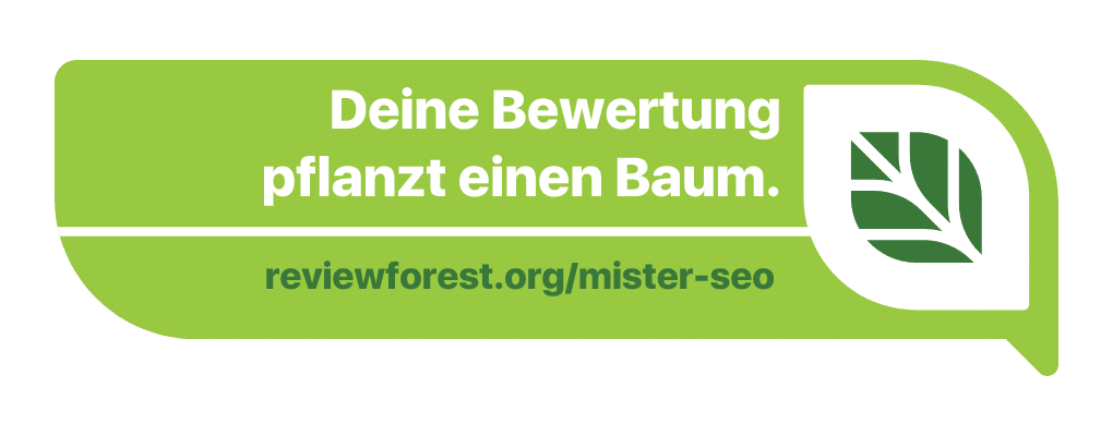 Nachhaltoeg SEO - Mister SEO pflanzt Bäume