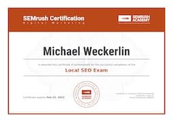 Semrush Local SEO Certificate