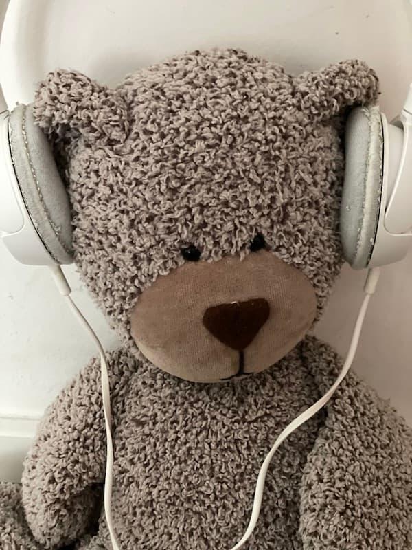 Der Contentbär hört Musik